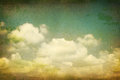 Vintage clouds grunge paper. Royalty Free Stock Photo