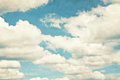 Vintage clouds and sky background. Royalty Free Stock Photo