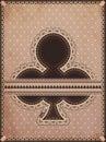 Vintage clubs poker card vector illustration Stock Image