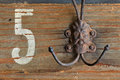 Vintage coat hook Royalty Free Stock Photos