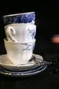 The vintage cobalt china