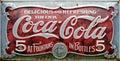 Vintage coca cola advert Royalty Free Stock Photo