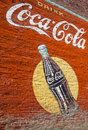 Vintage Coca-Cola wall Painting Stock Images