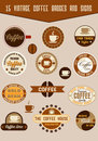 Vintage coffee badges Royalty Free Stock Photos