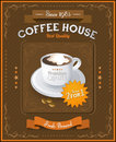 Vintage coffee house card eps illustration Royalty Free Stock Images