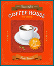 Vintage coffee house card eps illustration Stock Photos
