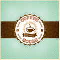 Vintage coffee menu template with grunge effects eps Royalty Free Stock Photography