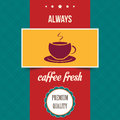 Vintage coffee poster vector illustration Royalty Free Stock Photos
