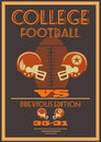 Vintage college american football poster with retro coloring Stock Photos