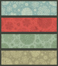 Vintage color christmas banners vector illustration Royalty Free Stock Photo