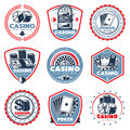 Vintage Colored Casino Labels Set Royalty Free Stock Photo