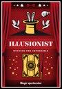 Vintage Colored Magic Illusion Poster