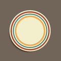 Vintage colored stripes sticker abstract background Royalty Free Stock Image