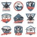 Vintage Colorful Aircraft Logos