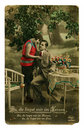 Vintage colorful photo of a young beauty couple Royalty Free Stock Photo