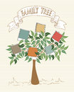 Vintage colors instant photo family tree Royalty Free Stock Photo