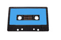 Vintage compact audio cassettes. Music cassette tapes old technology realistic retro design. Royalty Free Stock Photo