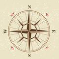 Vintage compass icon in retro style Royalty Free Stock Photography