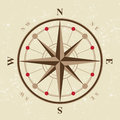 Vintage compass icon in retro style Stock Photography