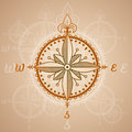 Vintage compass roses, icon and design element. vector nautical label. Royalty Free Stock Photo