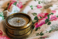 Vintage Compass on Roses Royalty Free Stock Photo