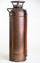 Vintage Copper Fire Extinguisher Royalty Free Stock Photo