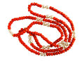 Vintage coral necklace Royalty Free Stock Photo