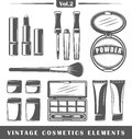 Vintage cosmetics elements