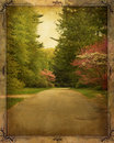 Vintage Country Lane Royalty Free Stock Photo