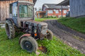 Vintage country tractor Stock Images