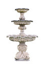 Vintage courtyard fountain isolated on white with clipping path Royalty Free Stock Images
