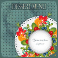 Vintage Cover Dessert Menu Stock Photography