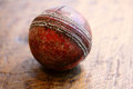 Vintage cricket ball Royalty Free Stock Image