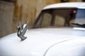 Vintage cuban car havana january the hood ornament on a in havana cuba legislation passed in has legalized sales to all Royalty Free Stock Photo