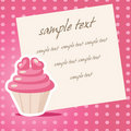 Vintage cupcake background Stock Photo