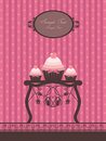 Vintage cupcake design Royalty Free Stock Image