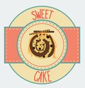 Vintage cupcake poster design vecyor illustration sweet Royalty Free Stock Photography