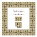 Vintage 3D frame 426 Polygon Cross Flower Royalty Free Stock Photo