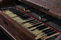 Vintage damaged organ close up of an old in a reformat church in transylvania photo taken on july Royalty Free Stock Photography