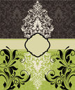 Vintage damask invitation Royalty Free Stock Images