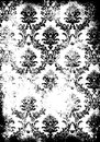Vintage damask pattern wallpaper template - shabby background