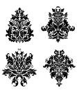 Vintage damask patterns in floral style for design Stock Photo