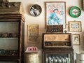 Vintage decoration of Guesthouse at Chaing Khan. Royalty Free Stock Photo