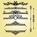 Vintage Decorations Elements. Flourishes Calligraphic Ornaments and Frames. Retro Style Design Royalty Free Stock Photo
