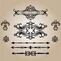 Vintage Decorations Elements. Flourishes Calligraphic Ornaments and Frames. retro Style Design Collection Royalty Free Stock Photo