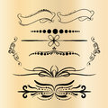 Vintage Decorations Elements. Flourishes Calligraphic Ornaments and Frames. Retro Style Design Collection for Invitations, Banners