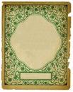 Vintage Decorative Background Design on Old Paper