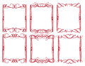 Vintage decorative design border vector borders and frames Royalty Free Stock Photos