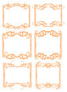 Vintage decorative design border vector borders and frames Royalty Free Stock Photo