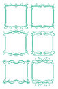 Vintage decorative design border vector borders and frames Stock Photo